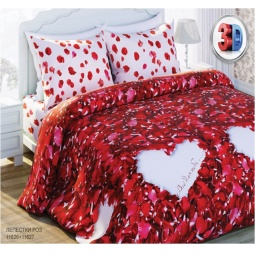 Комплект постельного белья Любимый дом Лепестки роз. 1,5 спальный