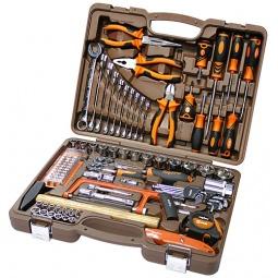 Универсальный набор инструментов: торцевые головки с аксессуарами, комбинированные ключи и отвертки Ombra OMT101S