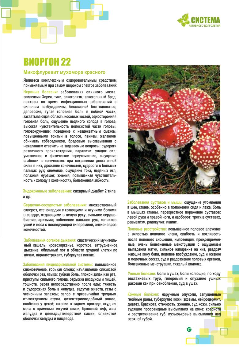 Микофлуревит мухомор полезные грибы